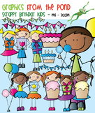 Scrappy Birthday Kids Clipart