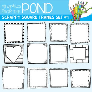 Scrappy Borders - Square - Graphics From the Pond