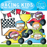 Scrappy Race Car Kids Clipart