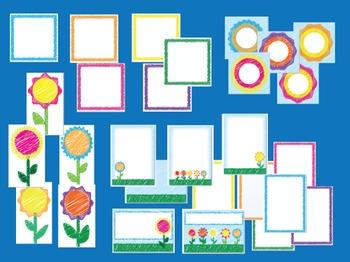 Scribble Flowers - Teaching Resource Maker Set