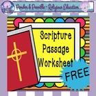 *FREE* ~ Scripture Worksheet