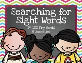 Searching for Sight Words: 1st 100 FRY Words