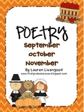 Seasonal Poetry - September, October, November!