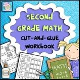 Second Grade Math Common Core Cut-and-Glue Workbook