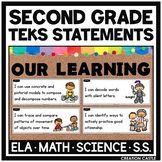 Second Grade TEKS Bundle - Can and Will Standards Statements