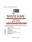 Second Grade Welcome Packet for parents