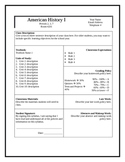 Secondary Grades Syllabus Template