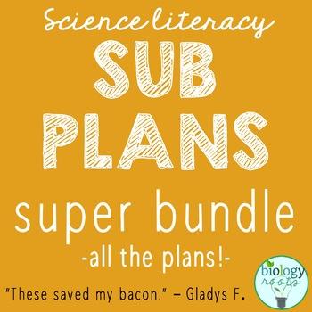 Secondary Science Sub Plans Super Bundle
