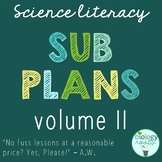 Secondary Science Sub Plans Volume II