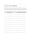 Secret Code Spelling