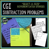 Select-a-size Subtraction Stories:  CGI Style Word Problem