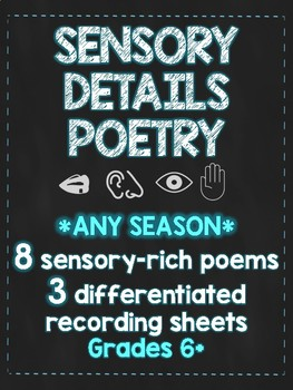Sensory Detail Poetry Stations
