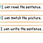 Sentence Building: Word Work White Board and Pocket Chart