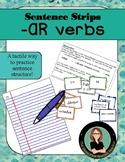 Sentence Structure Practice Spanish -AR verbs, Sentence Strip