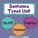 Sentence Types Unit: Simple, Compound, Complex {sentence s