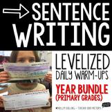 Sentence Writing Warm-Ups (Growing Bundle)
