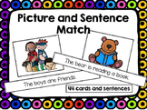 Sentence and Picture Matching Cards