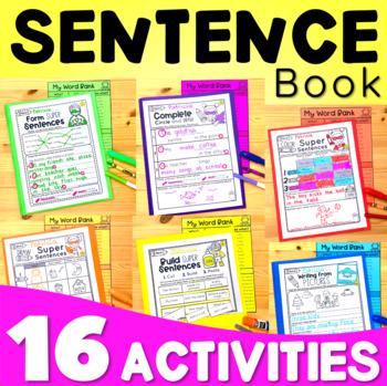 Sentence Structure - Writing Super Complete Sentences -  Worksheets