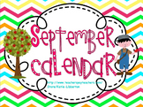 September 2015 Kindergarten ActivInspire Calendar