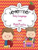 September Daily Language and Math Practice