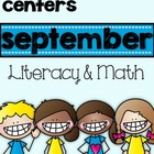 """September Freebie """"Back to School"""" Literacy and Math"""