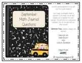 September Math Journal Prompts
