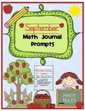 September Math Journal Prompts (Tickets)