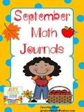 Math Journals for September