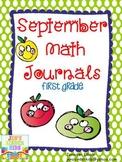 September Math Journals {First Grade}