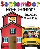 September Math Stations {Based on BUILD}