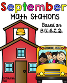 September Math Stations {Based on BUILD}