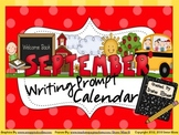 September Writing Prompt Calendar ~ Back To School Writing Unit