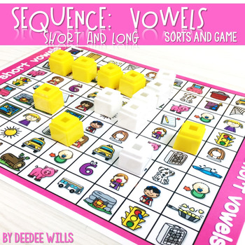 Sequence Game and Sorts for medial sounds short a, e, i, o, u