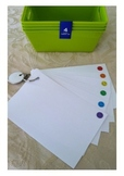 Set of 5 Color Coded Student Workstation Cards