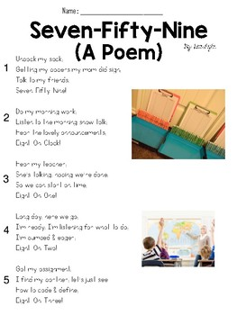 Seven-Fifty-Nine (Poem) Text and Question Set - FSA-Style ELA Assessment