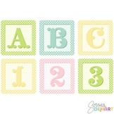 Clipart - Shabby French Baby Blocks Alphabet