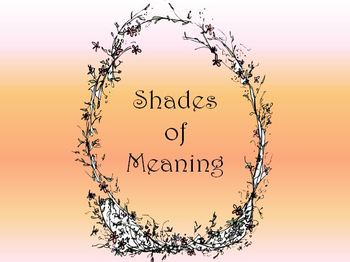 Shades of Meaning Lesson