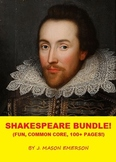 SHAKESPEARE BUNDLE! (Fun, Common Core, 113 Pages!, NOW ON