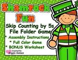 Shamrock Fun Skip Counting by 5s File Folder Game