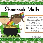 Shamrock Math - PreK, Kindergarten, First