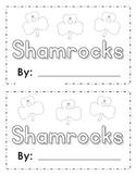 Shamrock St Patricks Day Rhyming Writing Center and Book
