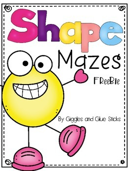Shape Mazes {Freebie}