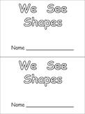 Shapes Kindergarten Emergent Reader- 2-d shapes and color words