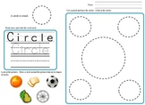 Shapes:  Tracing, Coloring, Writing, Morning Bell Work