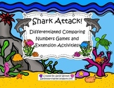 Shark Attack! Differentiated Comparing Numbers Small Group