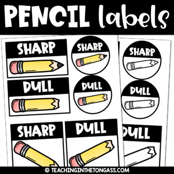 Sharp and Dull Pencils Clipart Freebie
