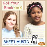 Sheet Music - piano, melody, lyrics, chords - Got Your Back