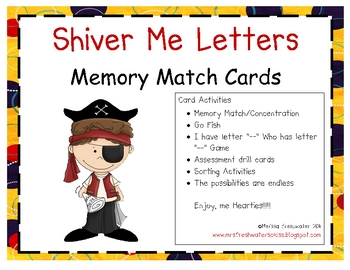 Shiver Me Letters Alphabet Cards