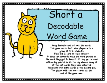 Short A Decodable Word Game