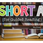Short A Word Family {for Guided Reading}